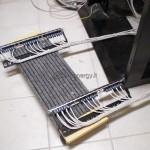 Cablaggio patch panel per reti dati.