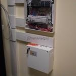 Installazione quadro elettrico con canalina.