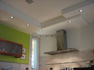Installazione luci cucina.
