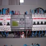 Particolare cablaggio sistema PLC Siemens.